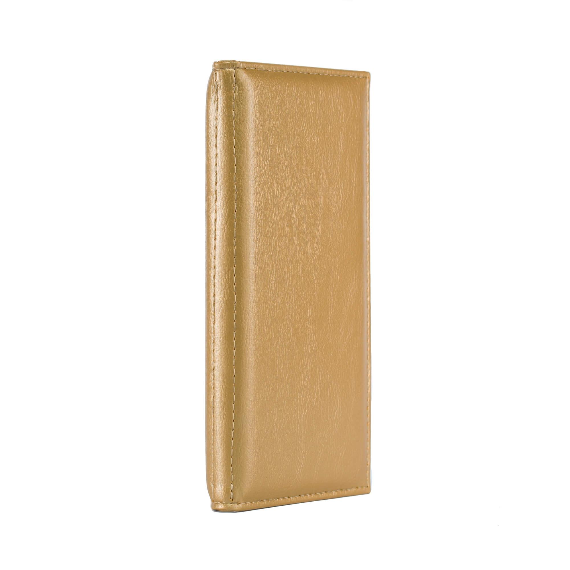 Arany színű, bőrhatású fizetőmappa, csáró 2