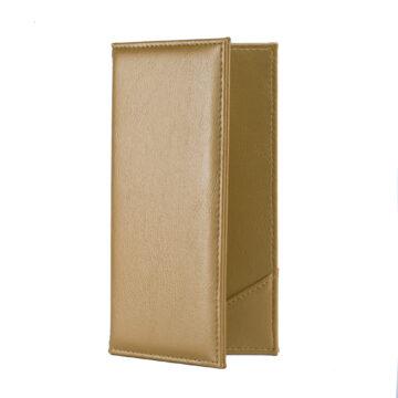 Arany színű, bőrhatású fizetőmappa, csáró