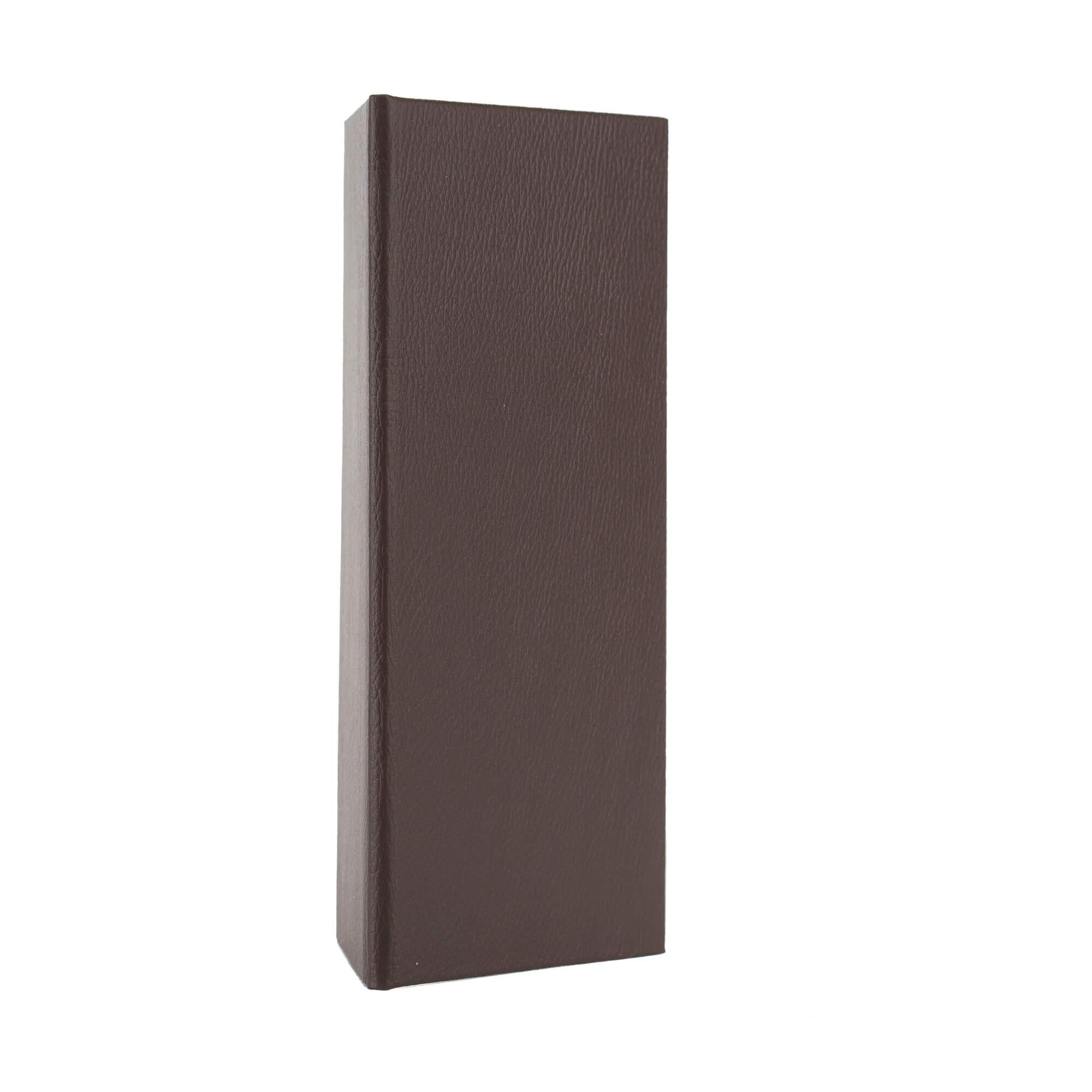 Csokibarna, bőrhatású fizetőmappa, csáró 2