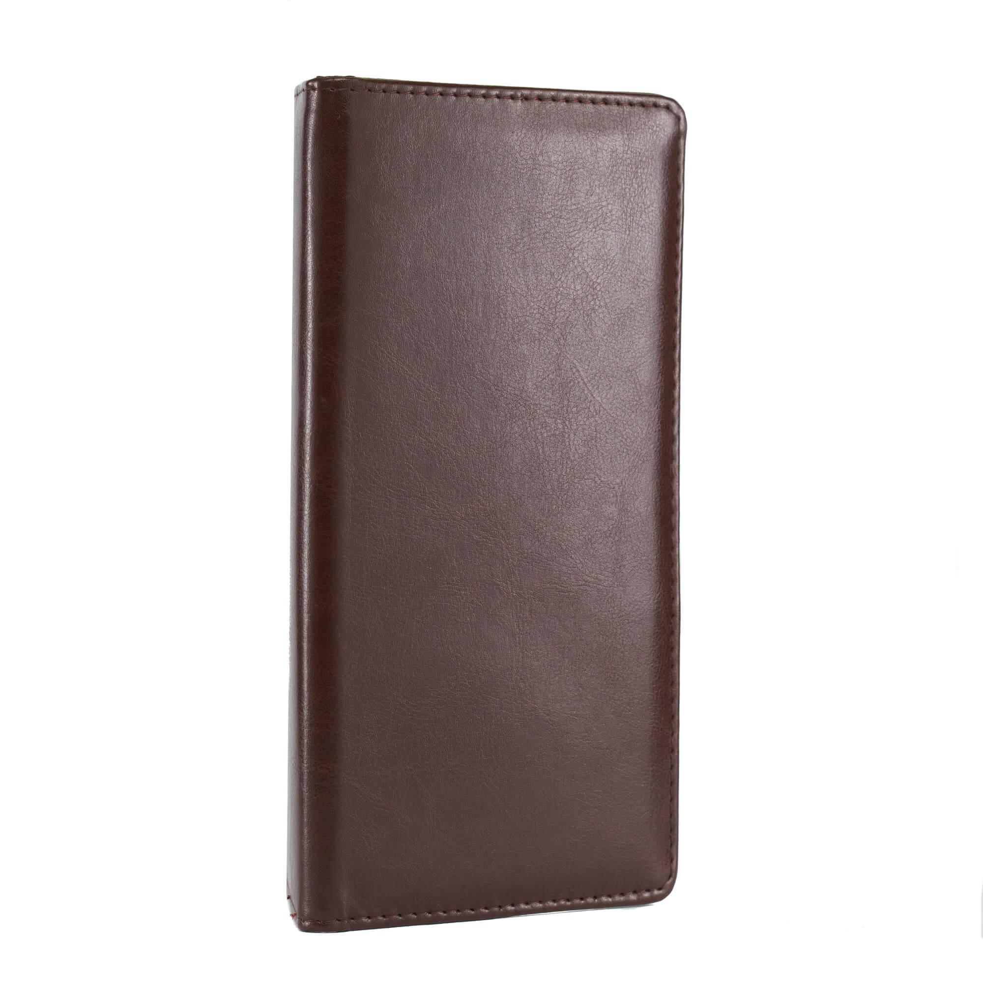 Csokibarna fizetőmappa, csáró, mágnessel 2