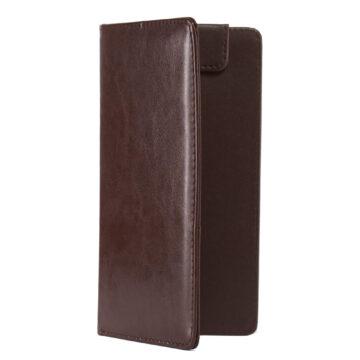 Csokibarna fizetőmappa, csáró, mágnessel