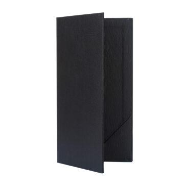 Fekete bőrhatású fizetőmappa, csáró 2