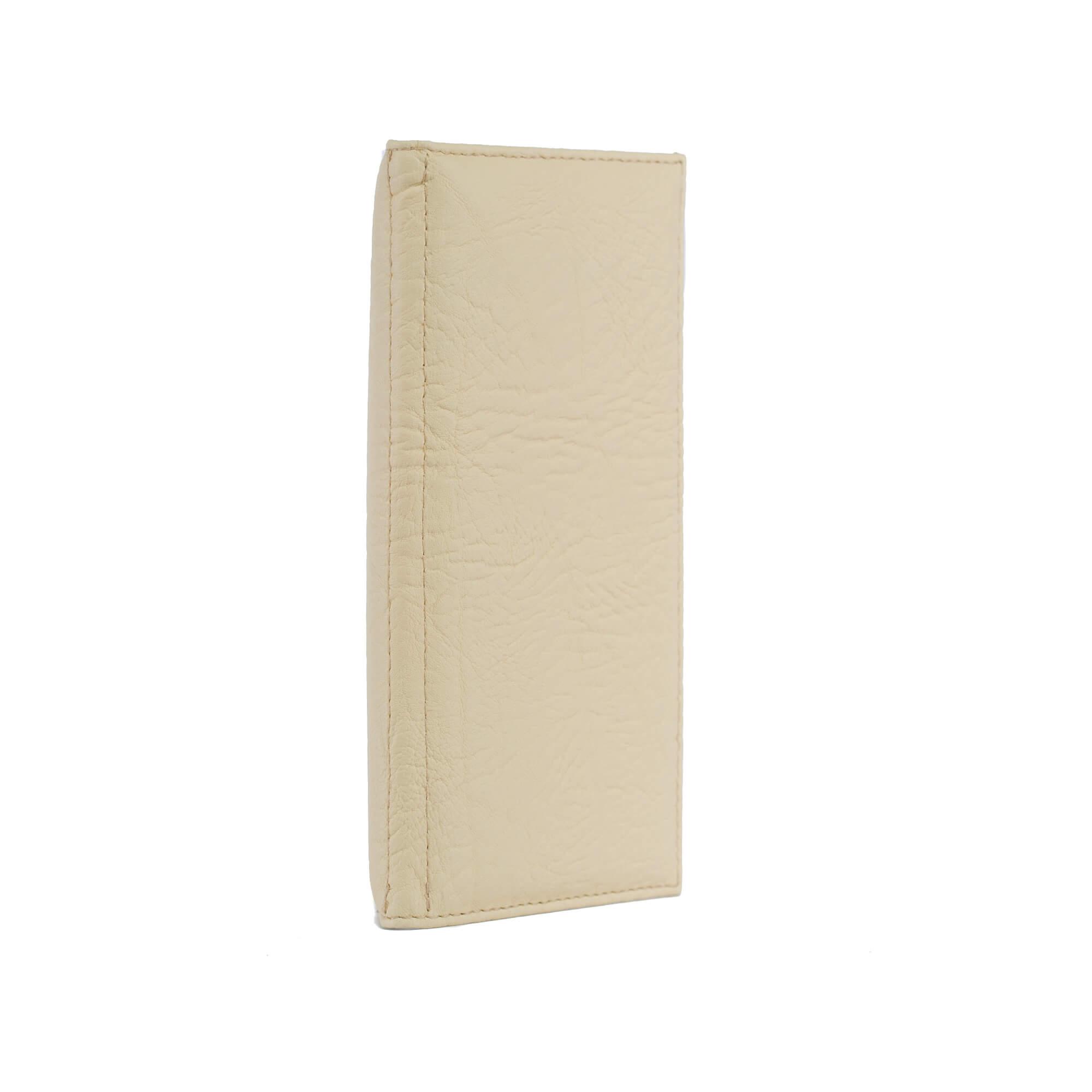 Halványsárga bőrhatású fizetőmappa, csáró 2