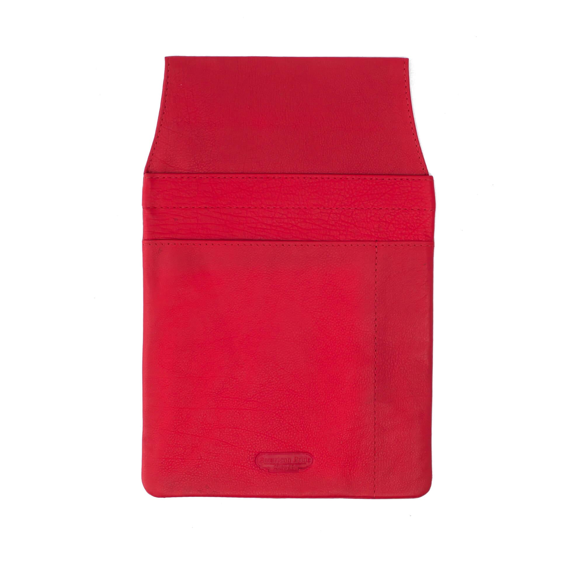 Piros bőr brifkótartó Ramsey 3