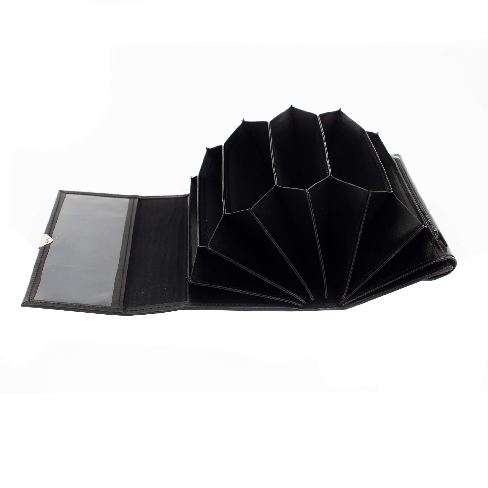 Fekete 7 zsebes brifko 20 cm (4)