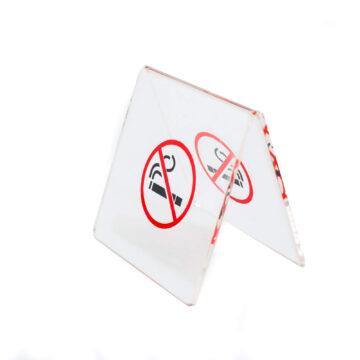 No smoking akril tábla, piros