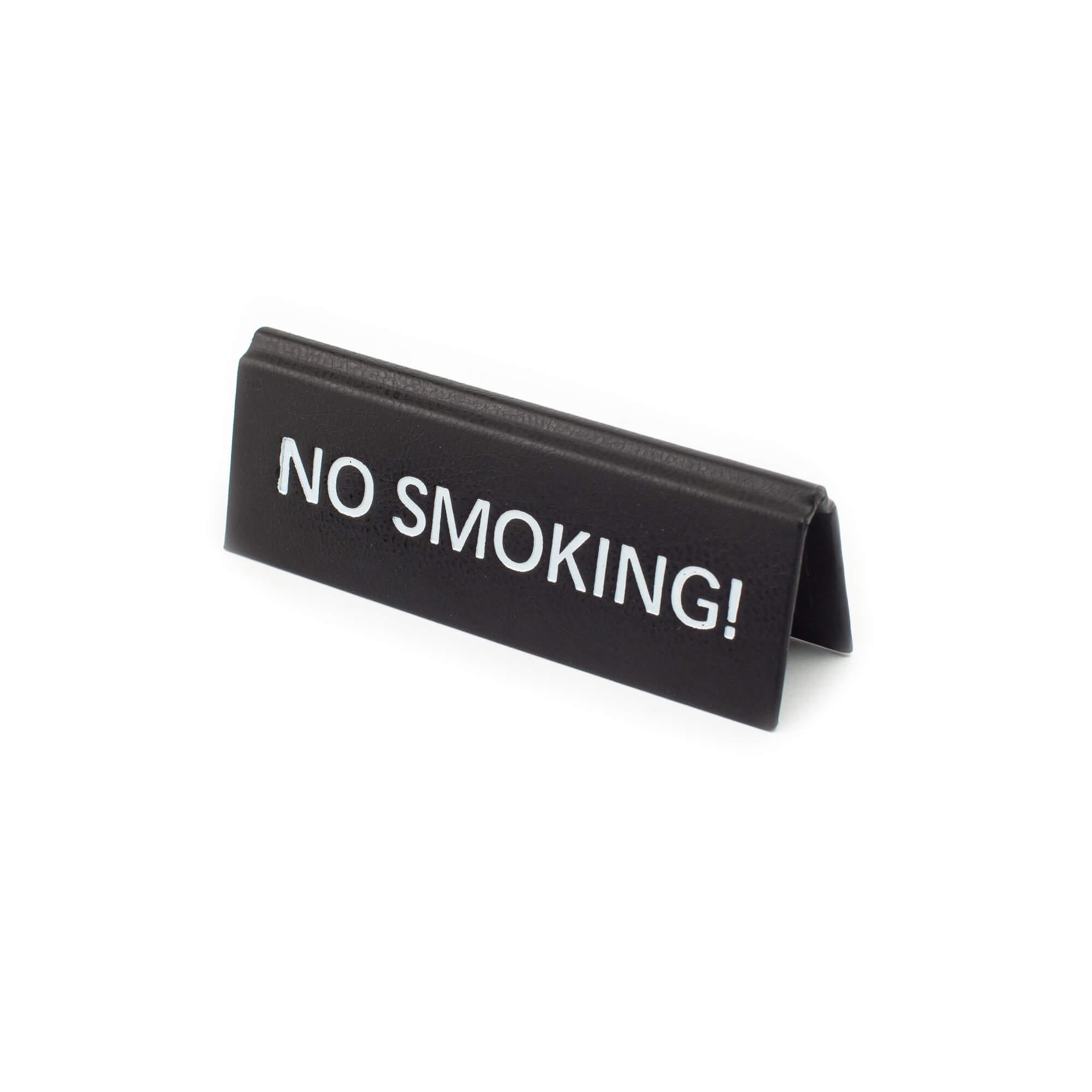 No smoking műbőr tábla, fekete