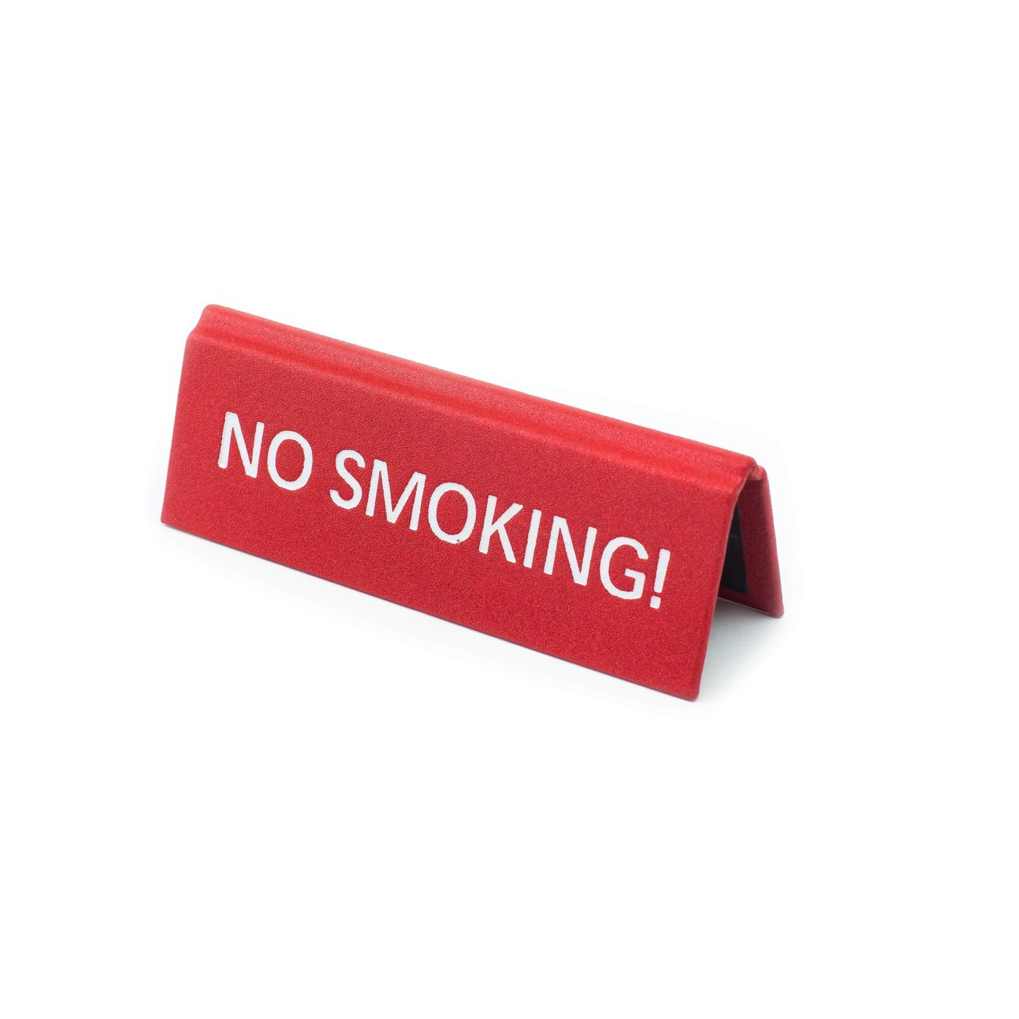 No smoking műbőr tábla, piros