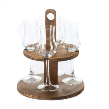 Pálinka kínáló 4 poharas