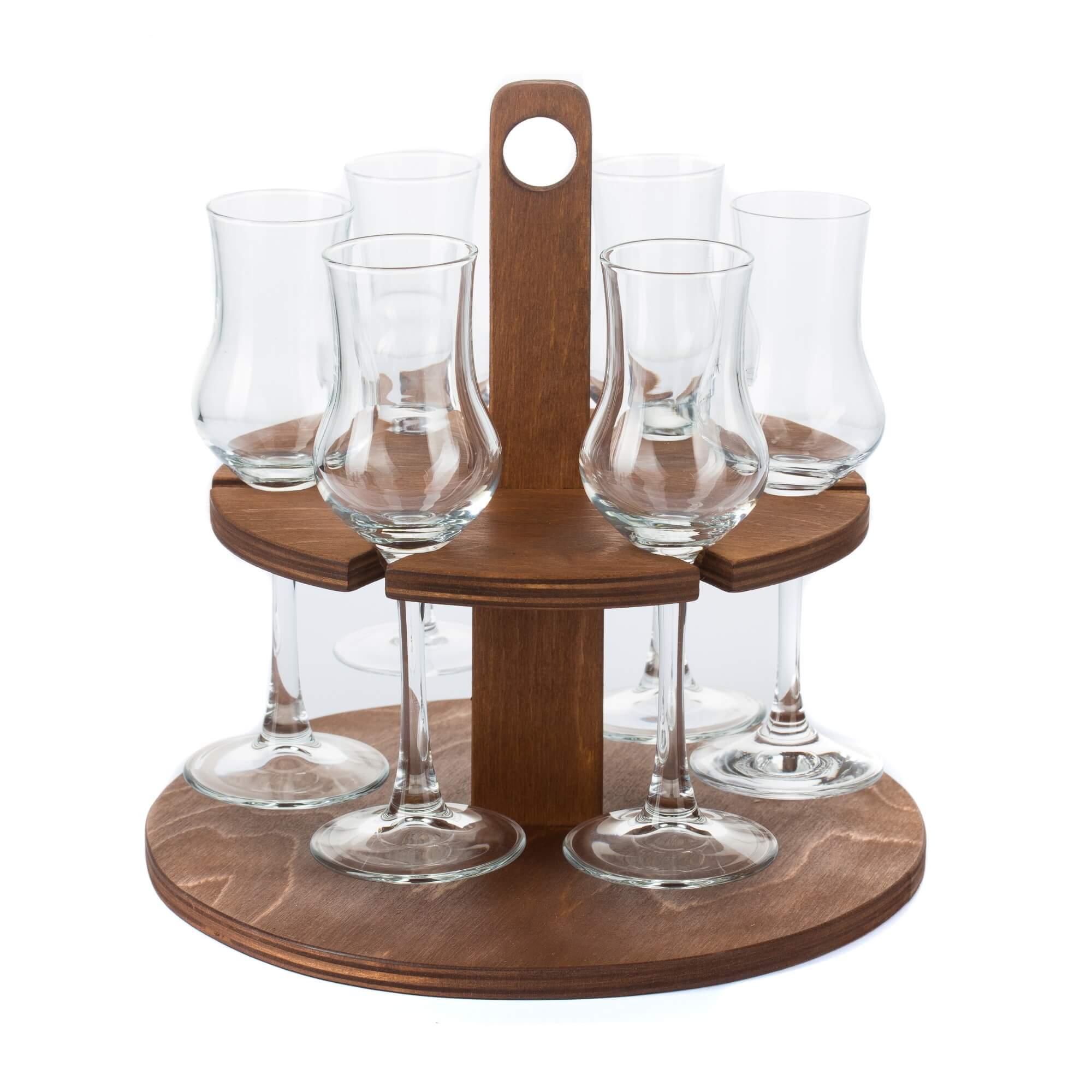 Pálinka szervírozó 6 poharas pohárral