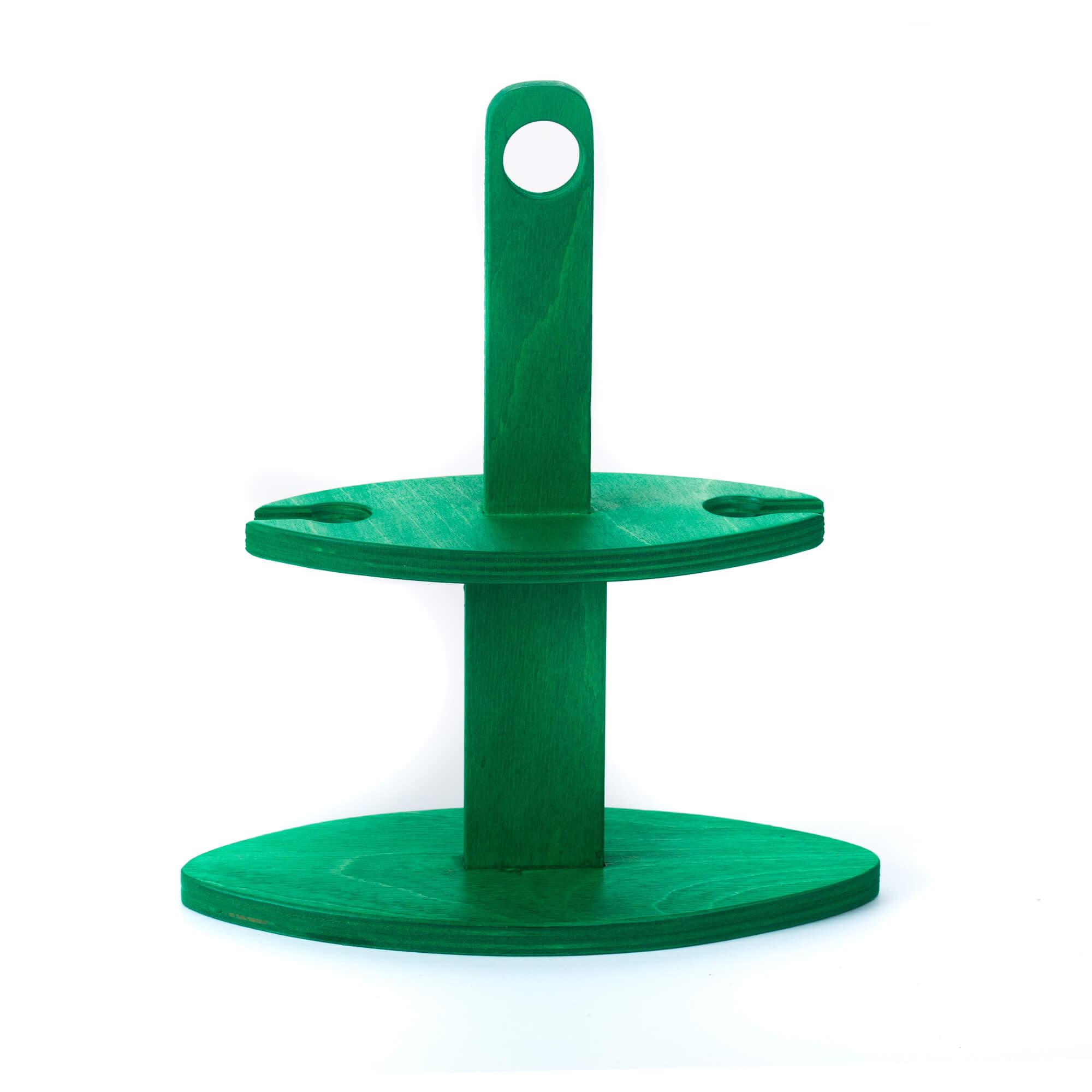Pálinka szervírozó zöld pohár nélkül