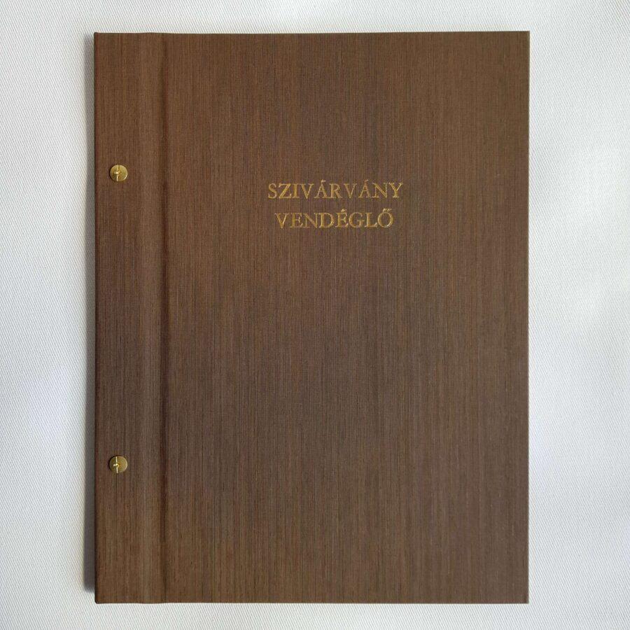 A4 Csavaros barna étlaptartó genoterm fóliával