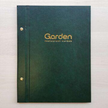 A4 Csavaros zöld étlaptartó genoterm fóliával