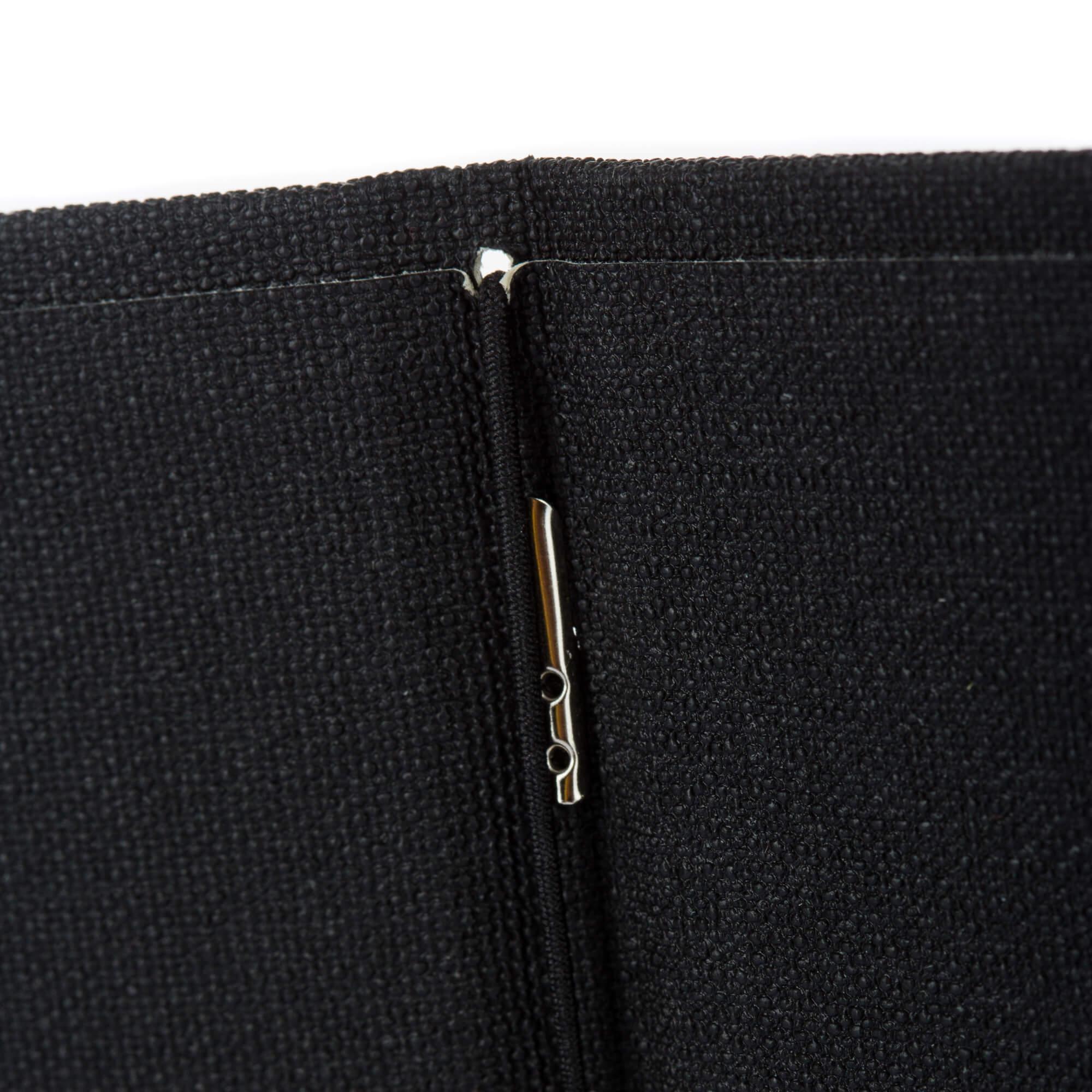 Fekete textilbőr gumis étlaptartó belül gumi A5